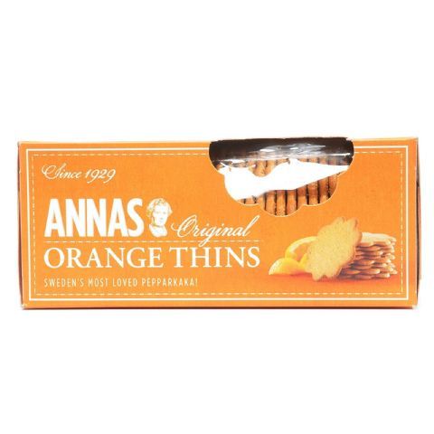 Orange Thins Original Swedish Pepparkaka Biscuits Annas 150g